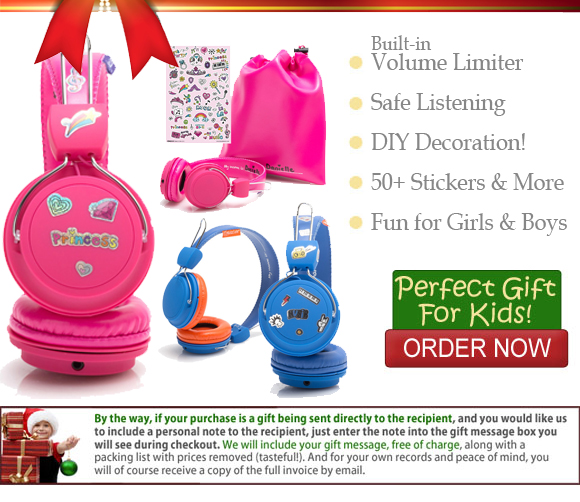 KidzSafe Headphones for Kids and More Great Gift Ideas!