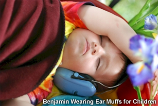Benjamin wearing AO Safety Select Ear Muffs.