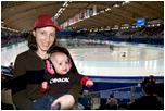 Anica, enjoying Speed Skating at the Vancouver Winter Olympics!