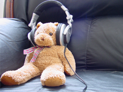 children, earphones, and music listening safety